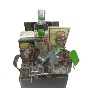 Give Me the Green Light Liquor Gift Basket, Liquor Gift Basket, Patron Gift Basket, Ciroc Gift basket, Vodka Gift Basket, Tequila Gift Basket