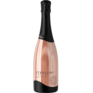 Sterling Vineyards Sparkling Rose, Sterling Pink Bottle, Sterling Sparkling Wine, Sterling Champagne, Engraved Sterling Wine