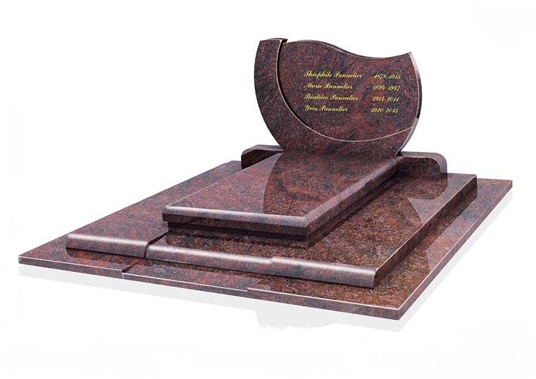 monument funéraire avec gravure deuil-enterrement-tombe-pompes-funebres-odet