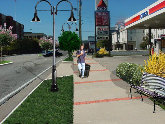 Virginia Avenue Pedestrian Improvement Livable Centers Initiative LCI Morrow Georgia 1