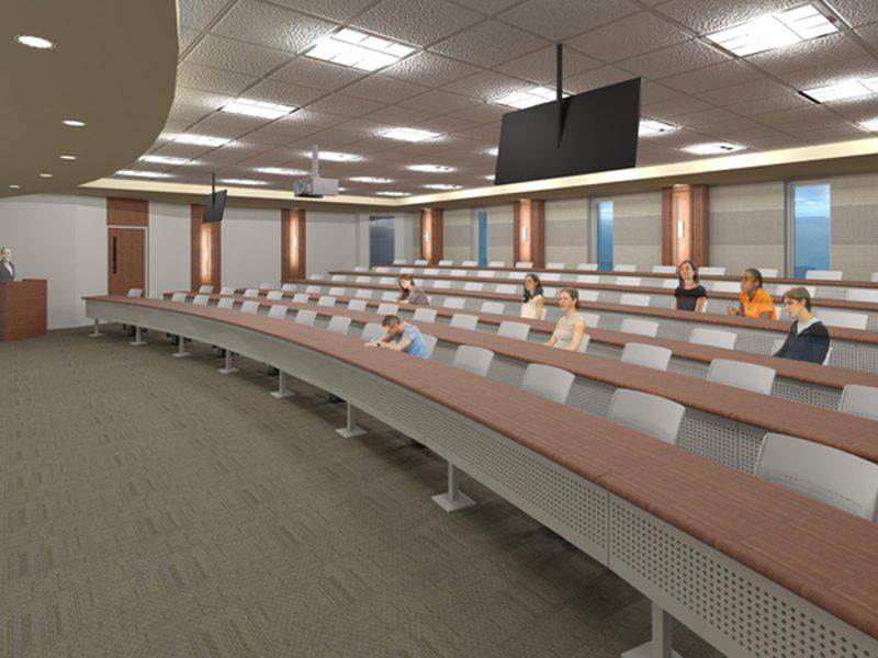 coker college classsroom renovation rendering