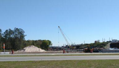 I-10 construction crane