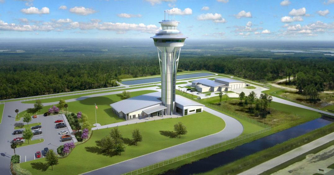 Air Traffic Control Tower and TRACON Facility RSW Ft Myers Florida