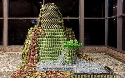Pond makes a difference during CANstruction