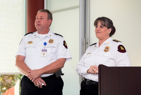 GA State Fire Marshal Dwayne Garriss and Public Safety Educator Karla Richter