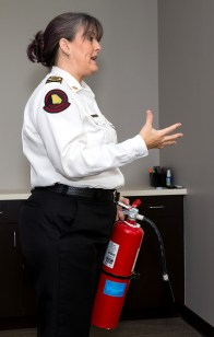 Karla Richter reviews holiday fire safety procedures.