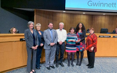 Pond Recognized by Gwinnett County Board of Commissioners for GPA Award Win