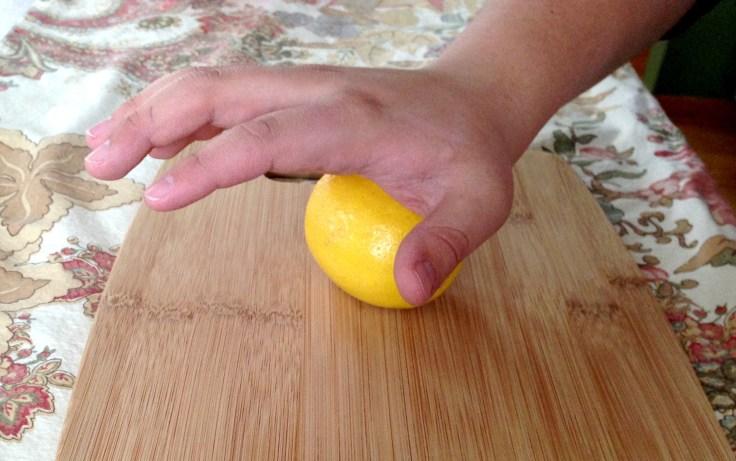 Rolling a lemon to break it down