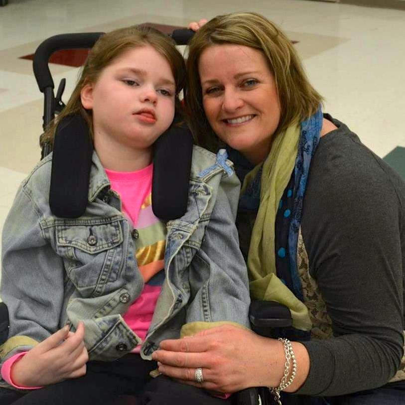 Harmony 4 Hope: Kerry Hughes and her young friend Bridget who suffers from Batten Disease