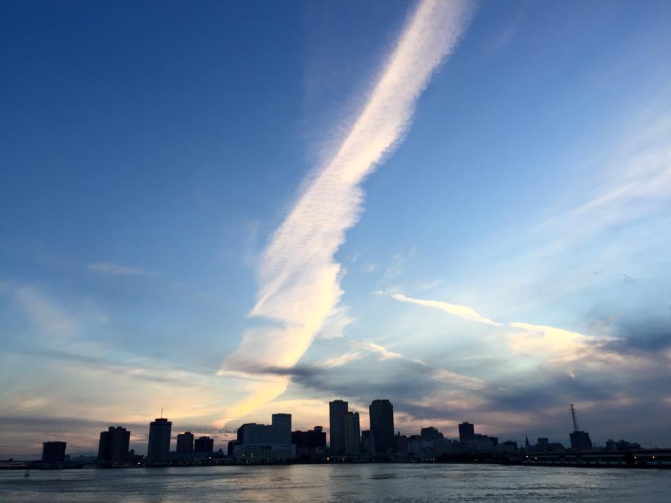 Spring break in New Orleans - nighttime sky