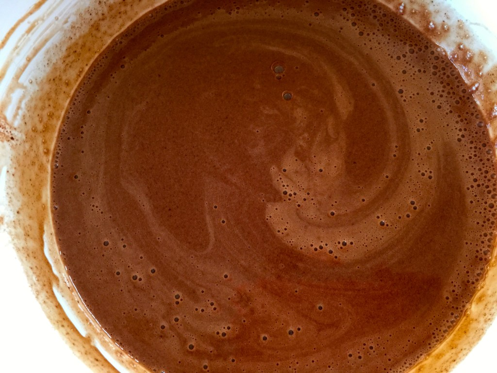 Saint Patrick's Day Dessert Recipe: Chocolate Guinness Goodness - blending in the chocolate