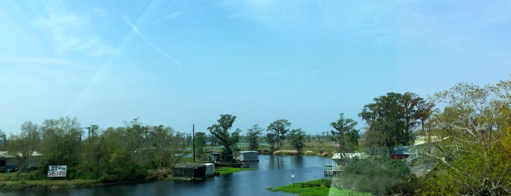 Spring break in New Orleans - miles and miles of bayou