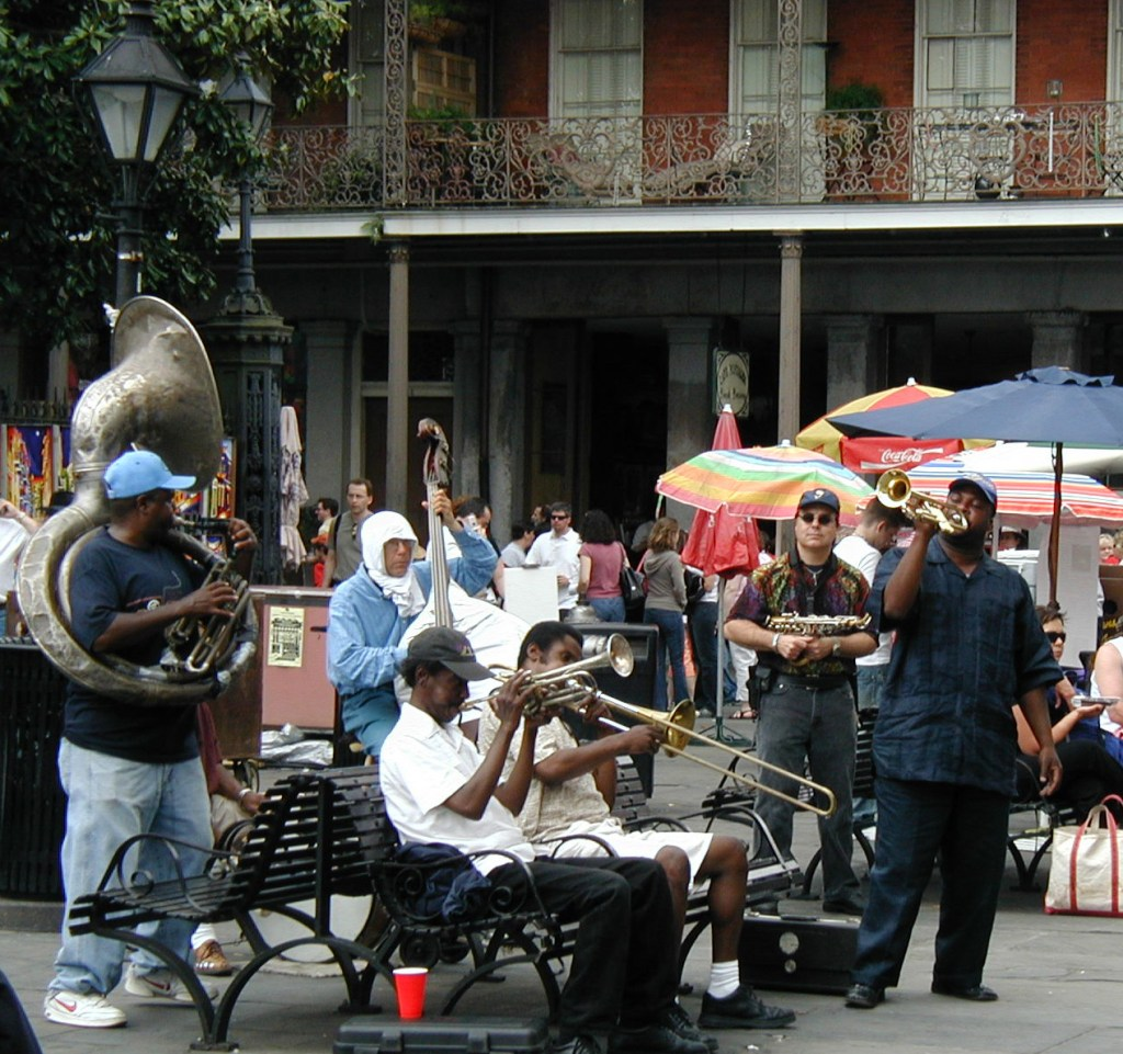 Spring break in New Orleans - jazz ensembles pop up on street corners at will