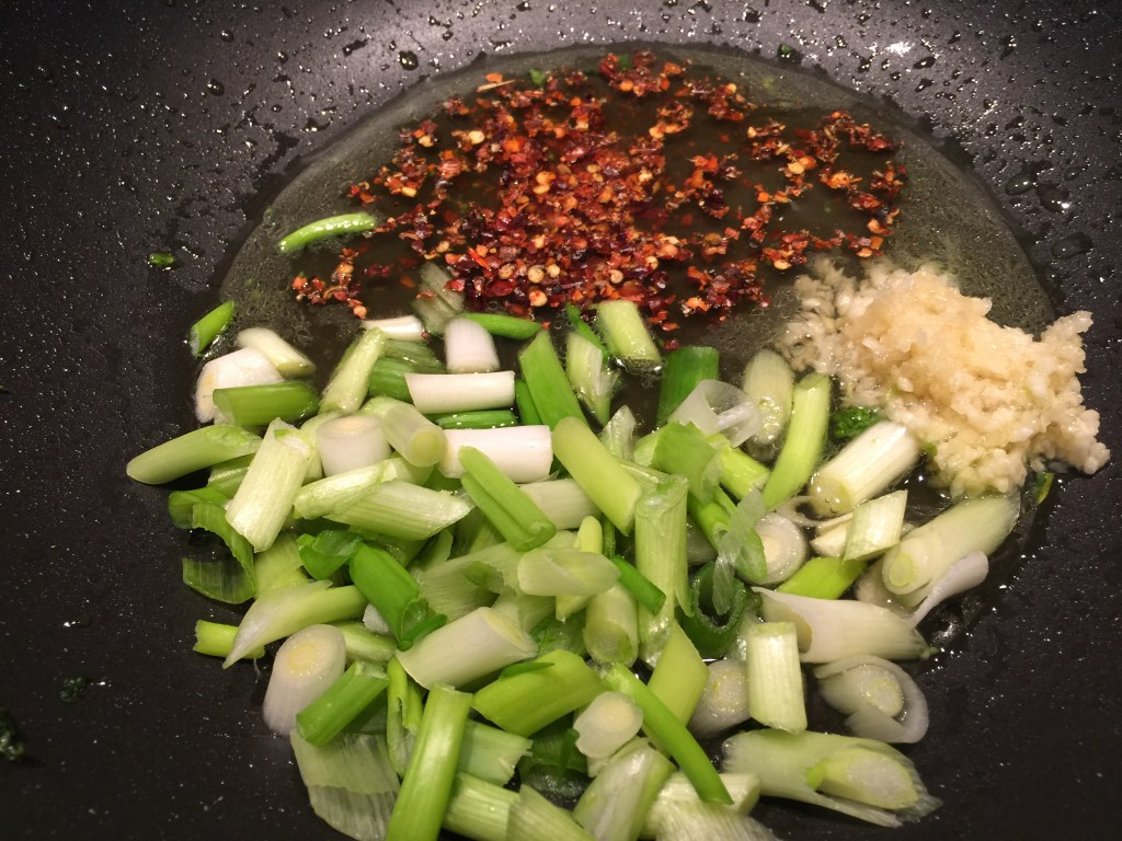 General Tso's Shrimp with Broccolini: Sauce prep, Part II