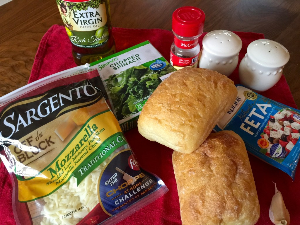 Pressed Spinach and Feta Grilled Cheese: Ingredients
