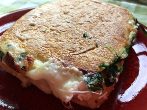 Pressed Spinach and Feta Grilled Cheese