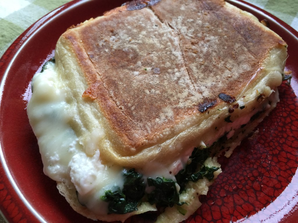 Pressed Spinach and Feta Grilled Cheese: This is the gloriously cheesy result!