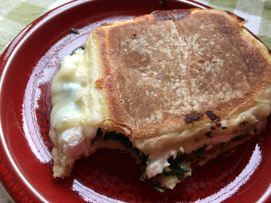 Pressed Spinach and Feta Grilled Cheese: Um, who sampled the goods?