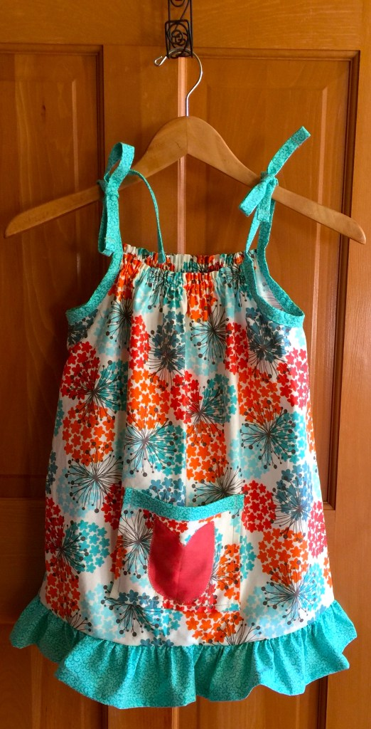 Pillowcase dress for a little girl in need