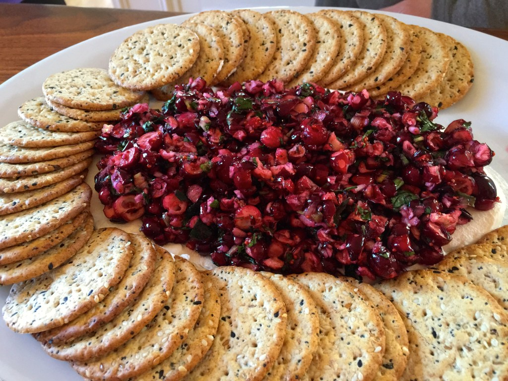 Cranberry Jalapeño Cream Cheese Dip - Perfect Thanksgiving or Christmas appetizer