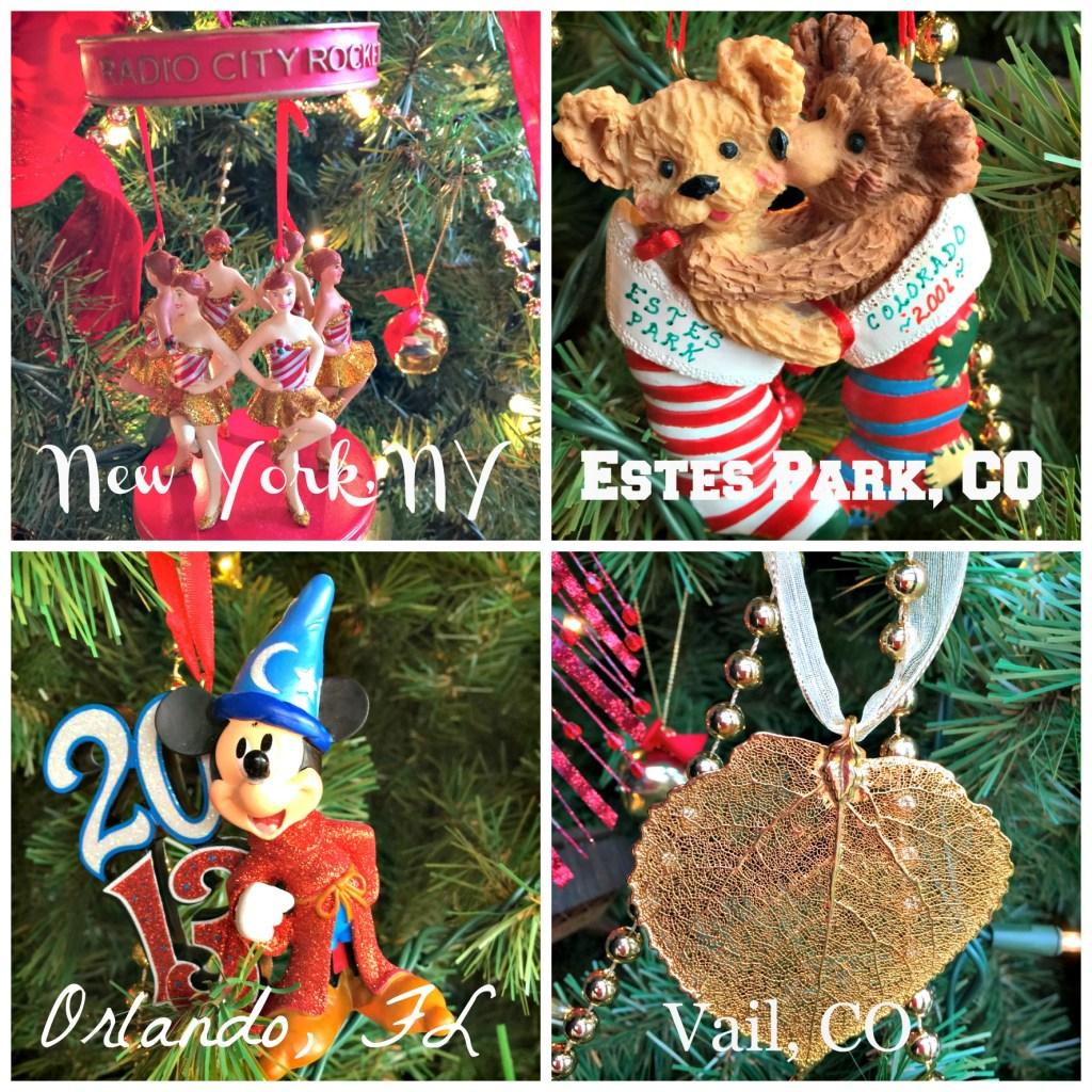 Decorating the Christmas Tree: Ornaments from our travels.