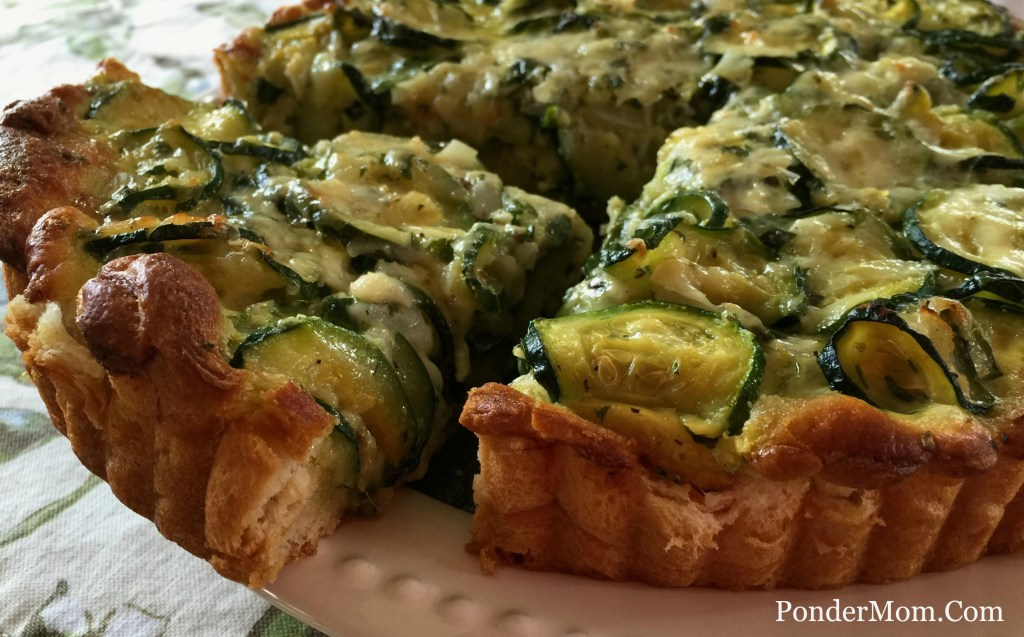 Recipes for summer zucchini and basil: Zucchini Tart with Gruyere and Herbs