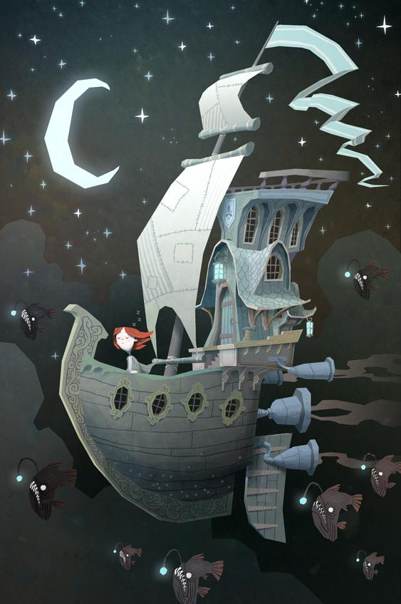 Fly By Night by ken wong Artwork by Ken Wong