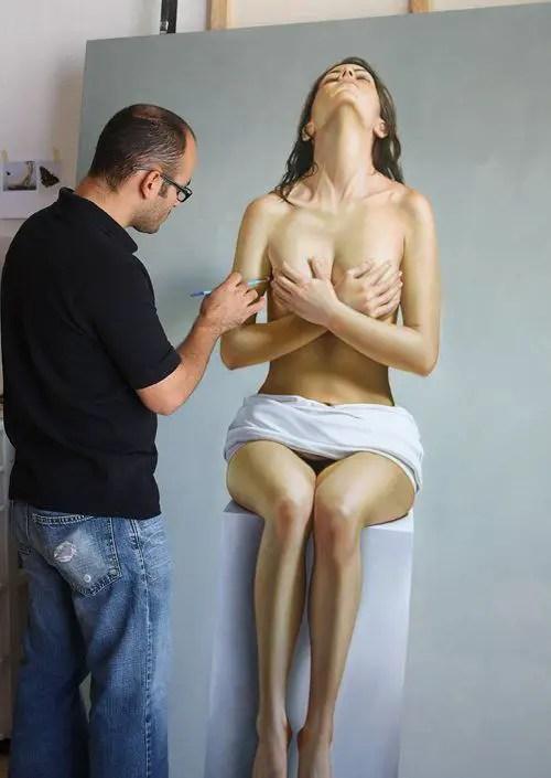 Realist Painting by Omar Ortiz