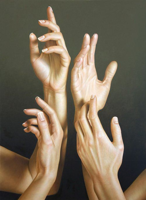 Hand Study Painting by Omar Ortiz