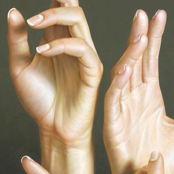Close-Up Hand Study Painting by Omar Ortiz