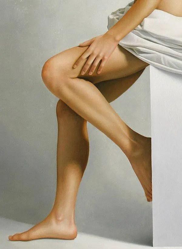 Leg Study Painting by Omar Ortiz