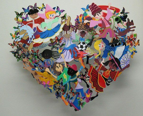 0003 Children At Heart 600x486 Unbelievable Metal Sculptures by David Kracov