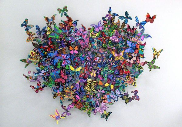 0021 My Heart is All A Flutter 2 600x419 Unbelievable Metal Sculptures by David Kracov