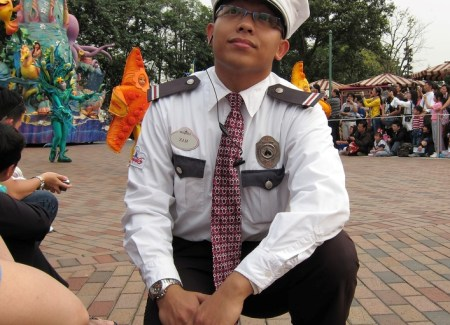 security guard with white uniform