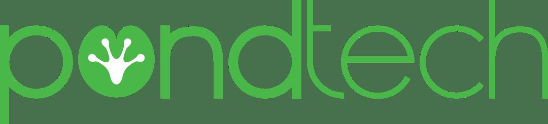 Pond Tech Logo Green Horizontal Wordmark Transparent Background