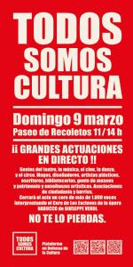 Todos somos Cultura | Cartel | Domingo 9 de marzo de 2014