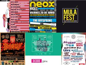 Carteles   Festivales de Música   Verano 2014   Comunidad de Madrid