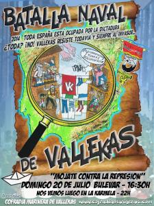 Cartel 34ª Batalla Naval de Vallekas | 20 de julio de 2014 | Puente de Vallecas - Madrid