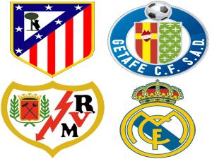 Escudos de los 4 equipos madrileños en Primera División | Liga BBVA | Temporada 2013-2014