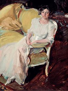 Clotilde sentada en un sofá   1910   Joaquín Sorolla   Óleo sobre lienzo   180 x 110 cm   Museo Sorolla, Madrid   © Museo Sorolla