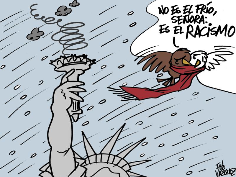 Ola de racismo en USA   © Fito Vázquez 2014