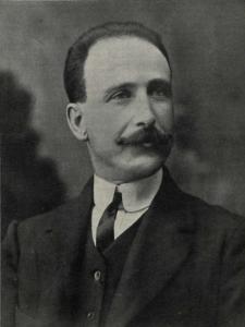 Francisco Largo Caballero, presidente de la Agrupación Socialista Madrileña y vocal del Instituto de Reformas Sociales   Foto: Vida Socialista nº 59 - 12 de febrero de 1911