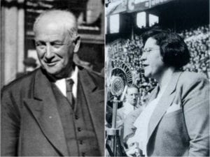Francisco Largo Caballero (UGT-PSOE) y Federica Montseny (CNT-AIT)