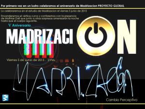 V aniversario Madrización Cambio Perceptivo   5 de junio de 2015   Cartel