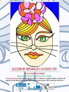 Fiestas de San Cayetano, San Lorenzo y La Paloma 2015 | Elección de Personajes Castizos | Jueves 6 de agosto de 2015 | Plaza de Cascorro - Centro - Madrid | Cartel