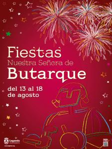 Fiestas Nuestra Señora de Butarque | Del 13 al 18 de agosto de 2015 | Leganés - Comunidad de Madrid | Cartel