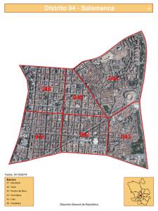 Plano Distrito Salamanca de Madrid | Fuente Dirección General de Estadística del Ayuntamiento de Madrid