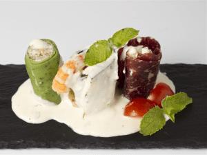 Tapapiés 2015 | Sushi Tricolor | Origen: Italia | Oliveto (premio mejor tapa Tapapiés 2014 por votación popular) | Lavapiés - Madrid