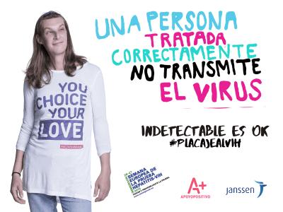 Apoyo Positivo   Indetectable es OK   #placajealVIH   Noviembre 2015