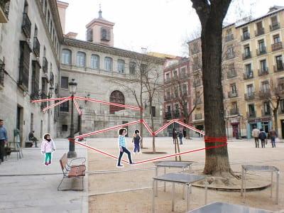 'De casa a la plaza'   Marta Kayser y  alumnos Colegio Hermanos Amorós   Levadura 2015   CentroCentro Cibeles   Madrid   Plaza de la Paja